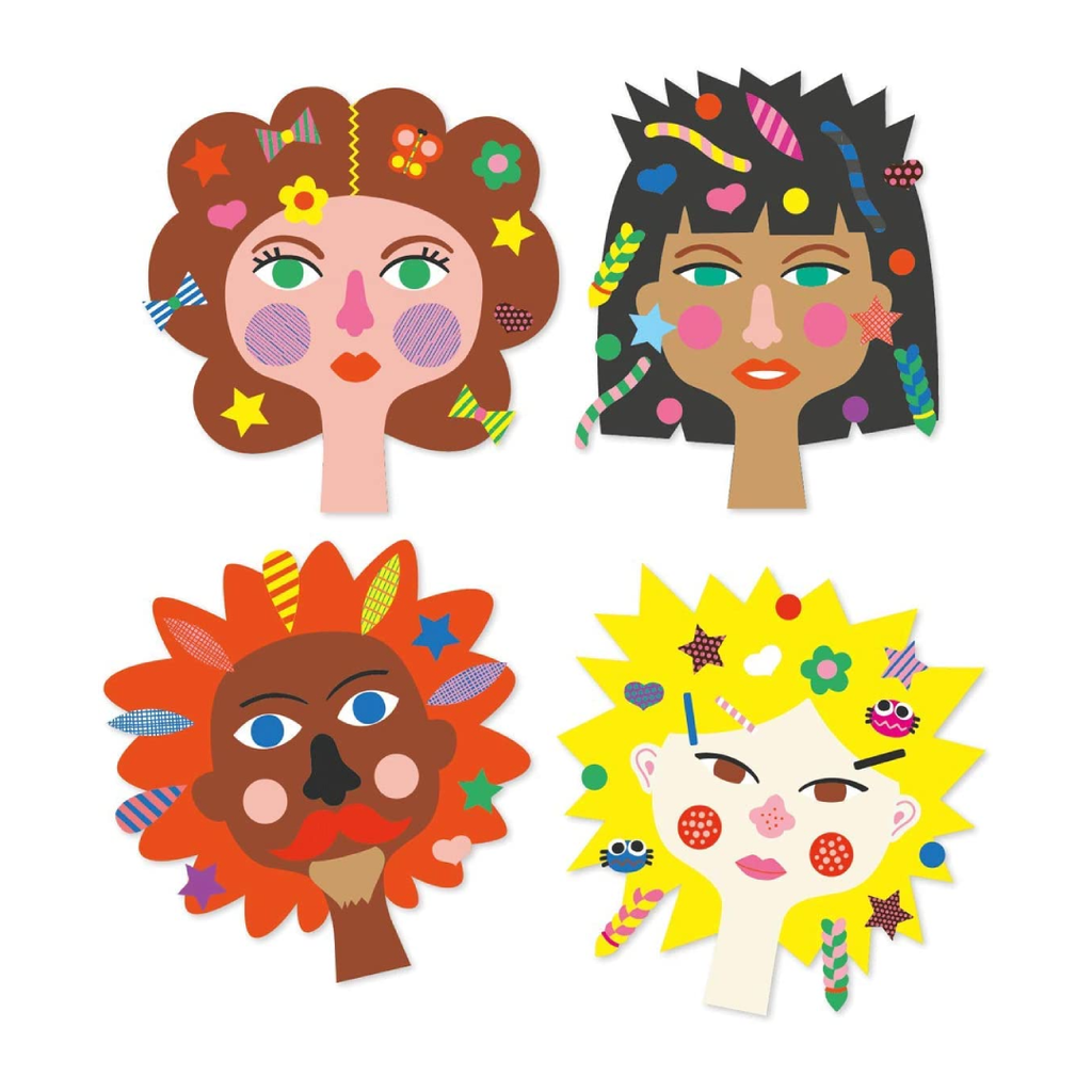 Hairdresser Stickers Craft Kit