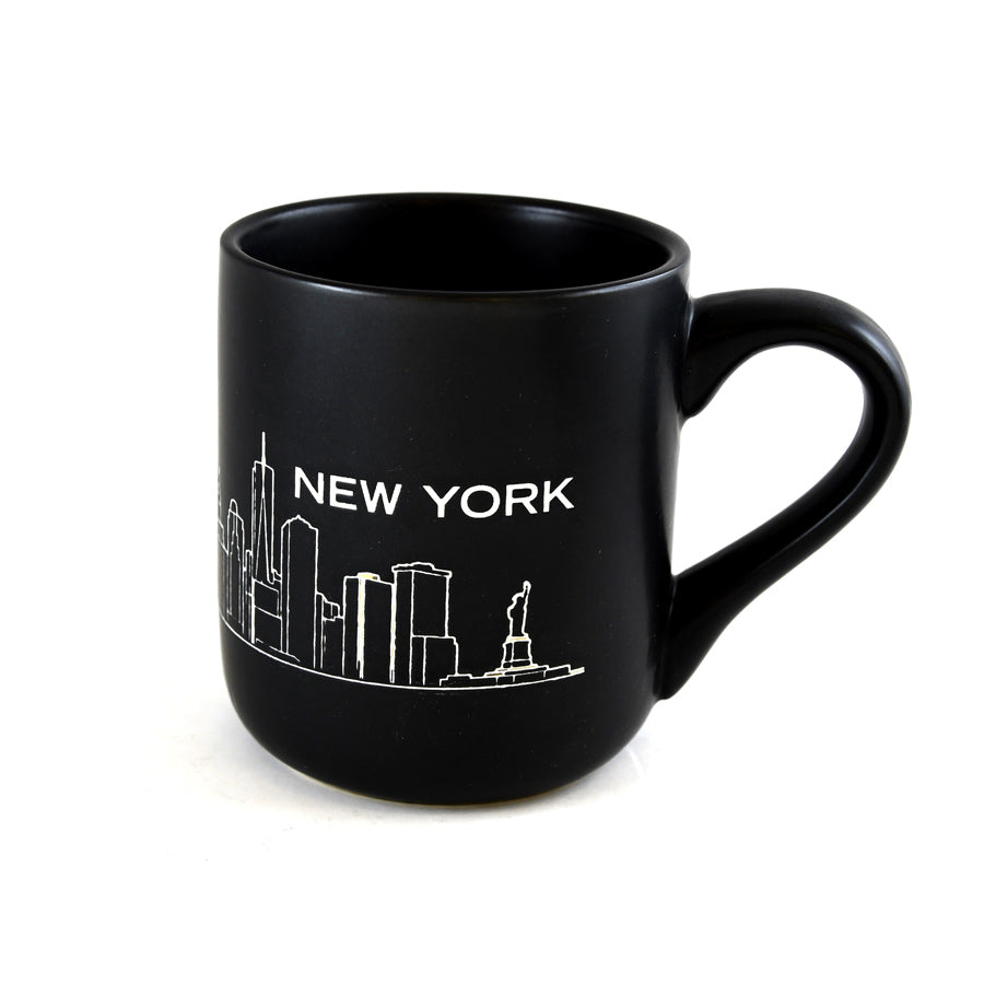 Black New York City Skyline Mug