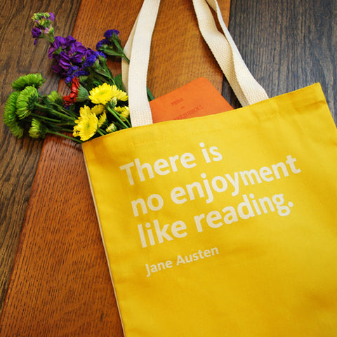 Mustard NYPL Jane Austen Tote Bag - The New York Public Library Shop