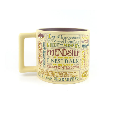 The inside of the mug is burgundy