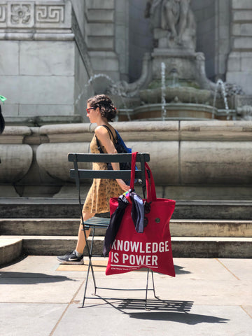 NYPL Knowledge is Power Tote Bag