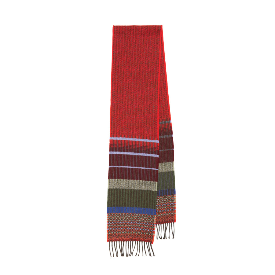 Lambswool Kyoto Scarf: Red