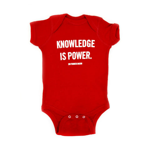 Knowledge is Power NYPL Quote Onesie
