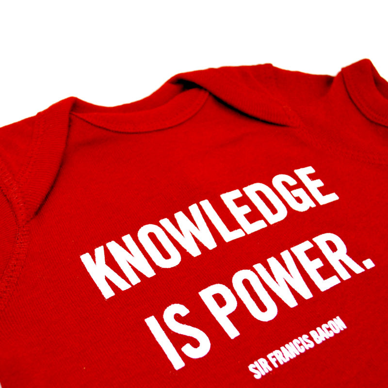 Knowledge Is Power NYPL Quote Onesie The New York Public Library Shop Magnificent Knowledge Is Power Quote