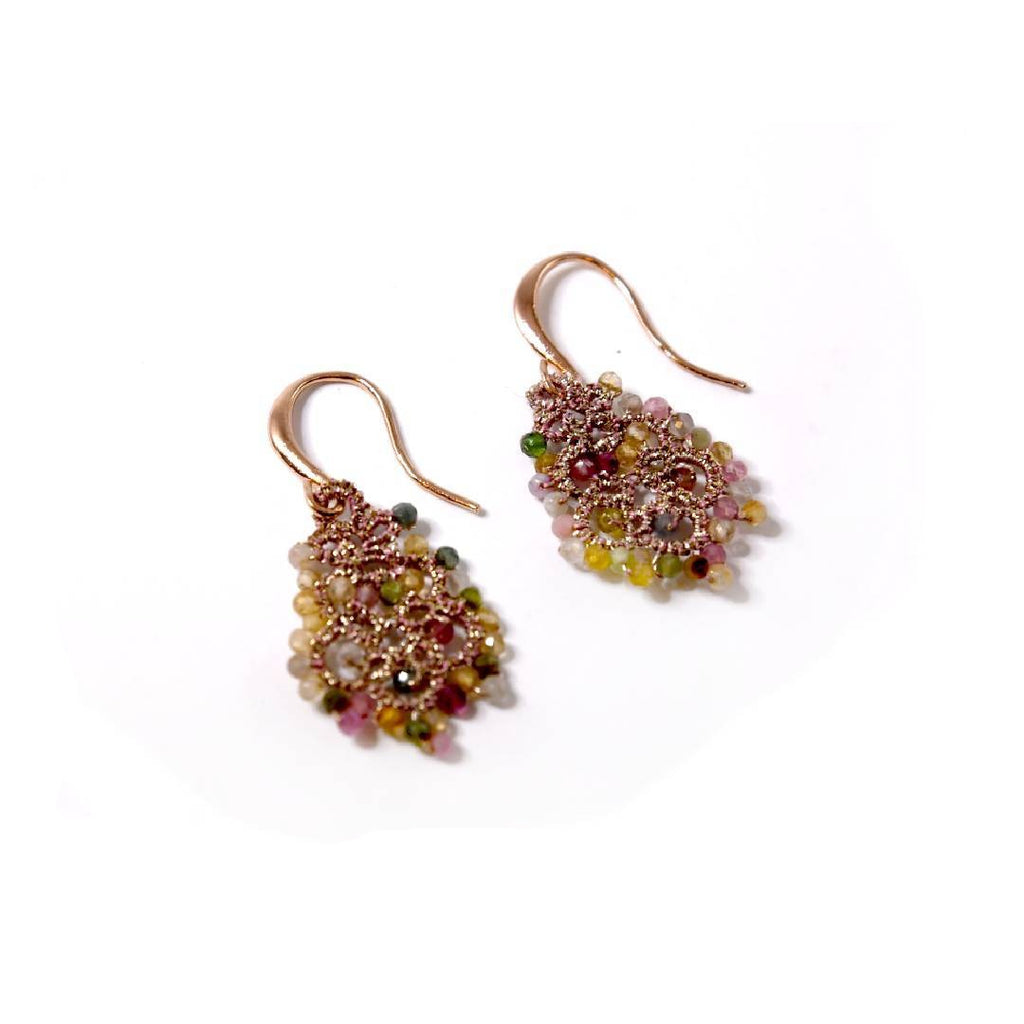 Lace Earrings: Tourmaline Dora