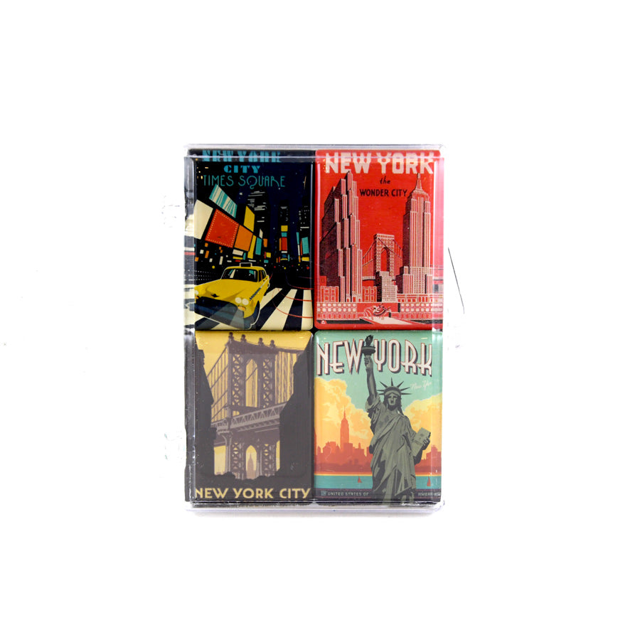 Vintage New York Posters Magnet Set