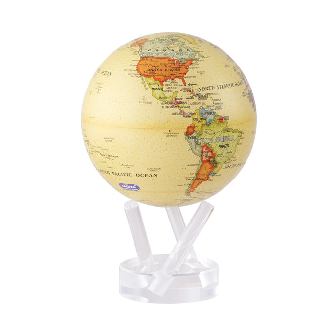 Mova Rotating Antique Beige Globe - The New York Public Library Shop