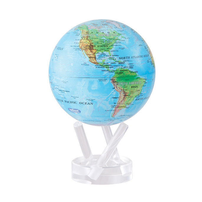 Mova Rotating Blue Ocean Relief Globe - The New York Public Library Shop