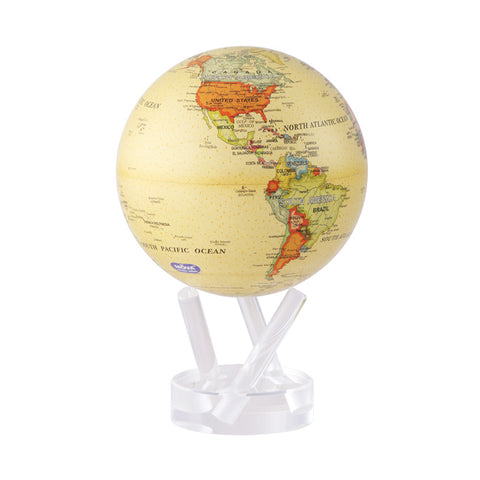 Mova Rotating Antique Beige Globe