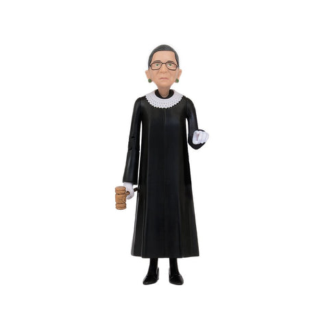 Ruth Action figure is dressed with the court dress. It includes a Gavel.