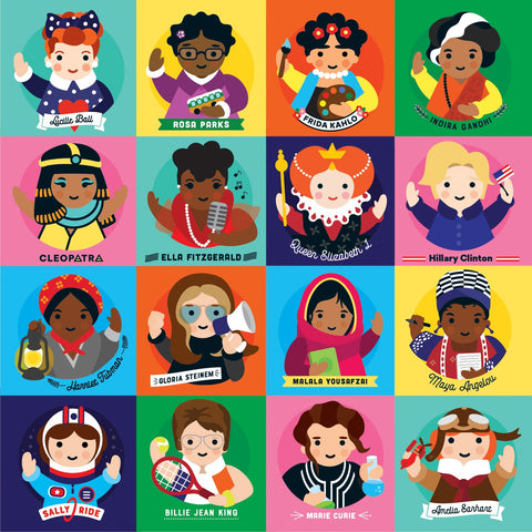 You can find Frida Kahlo, Hillary Clinton, Sally Ride, Maya Angelou, among others.