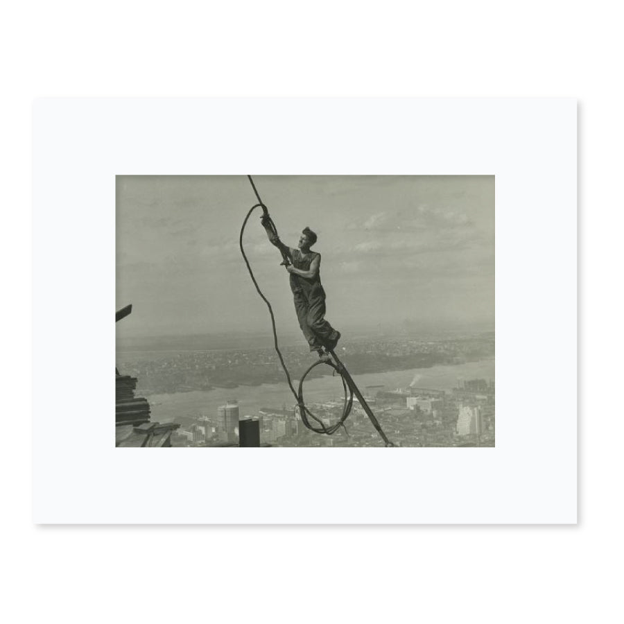High Up on Empire State Matted Print