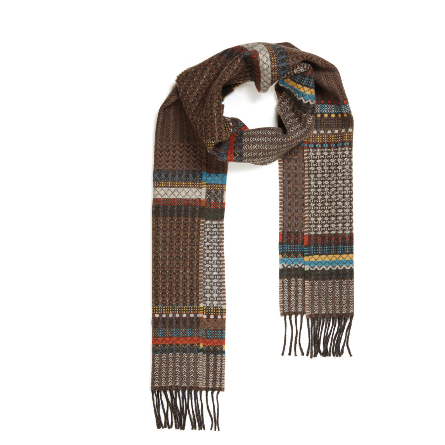 Lambswool Meadow Scarf: Brown