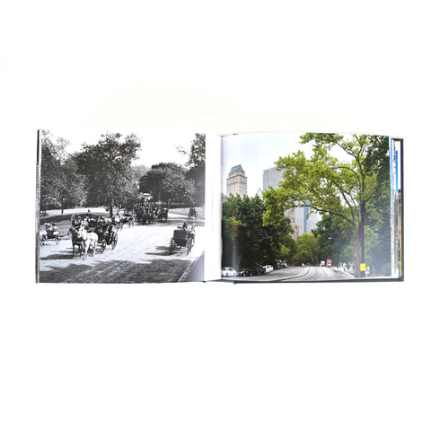 Photographs of the now and then of Central Park
