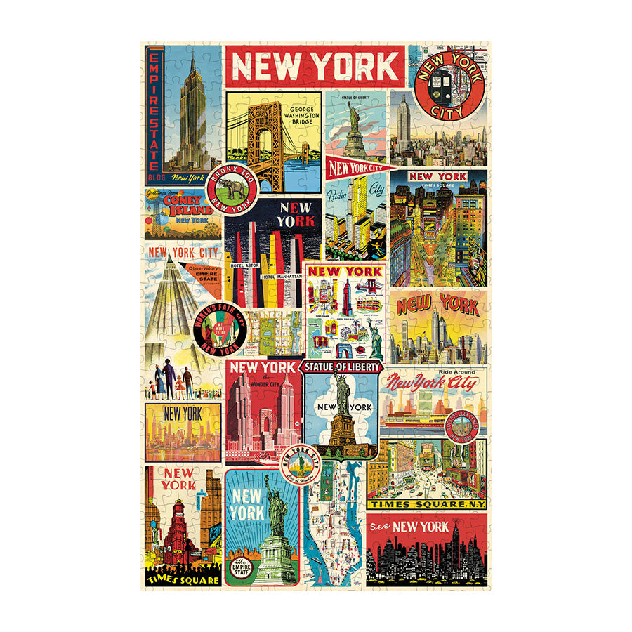 NYC Vintage Collage Puzzle