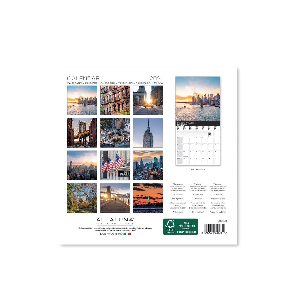 2021 Mini New York Skyline Calendar