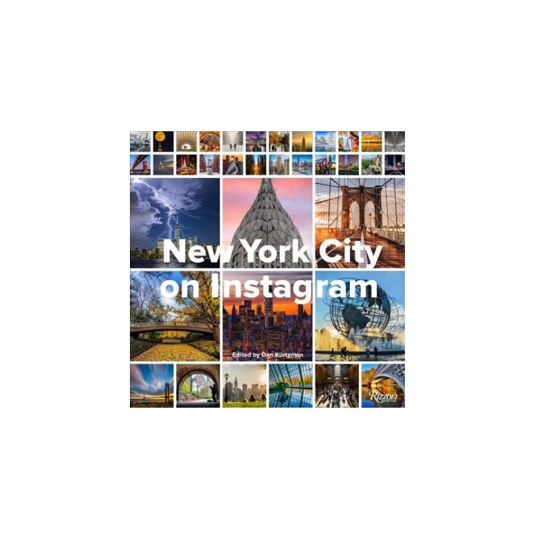 Cover features many photographs of NYC posted on the instagram platform.