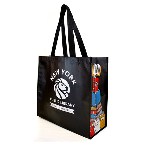 Recycled NYPL Bookstack Tote - The New York Public Library Shop