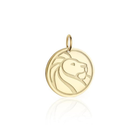 Gold NYPL Lion Card Charm