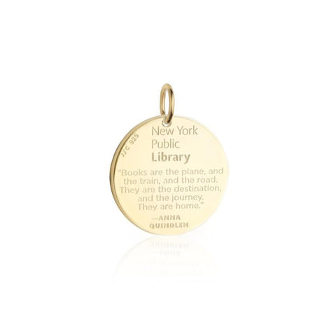 "Quote on the reverse with text that reads ""the New York Public Library"""