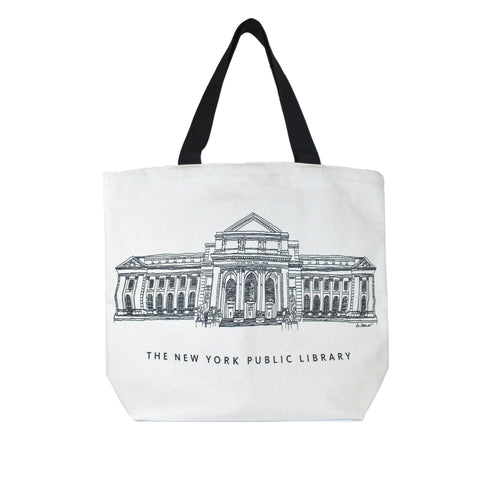 NYPL Building Tote Bag - The New York Public Library Shop