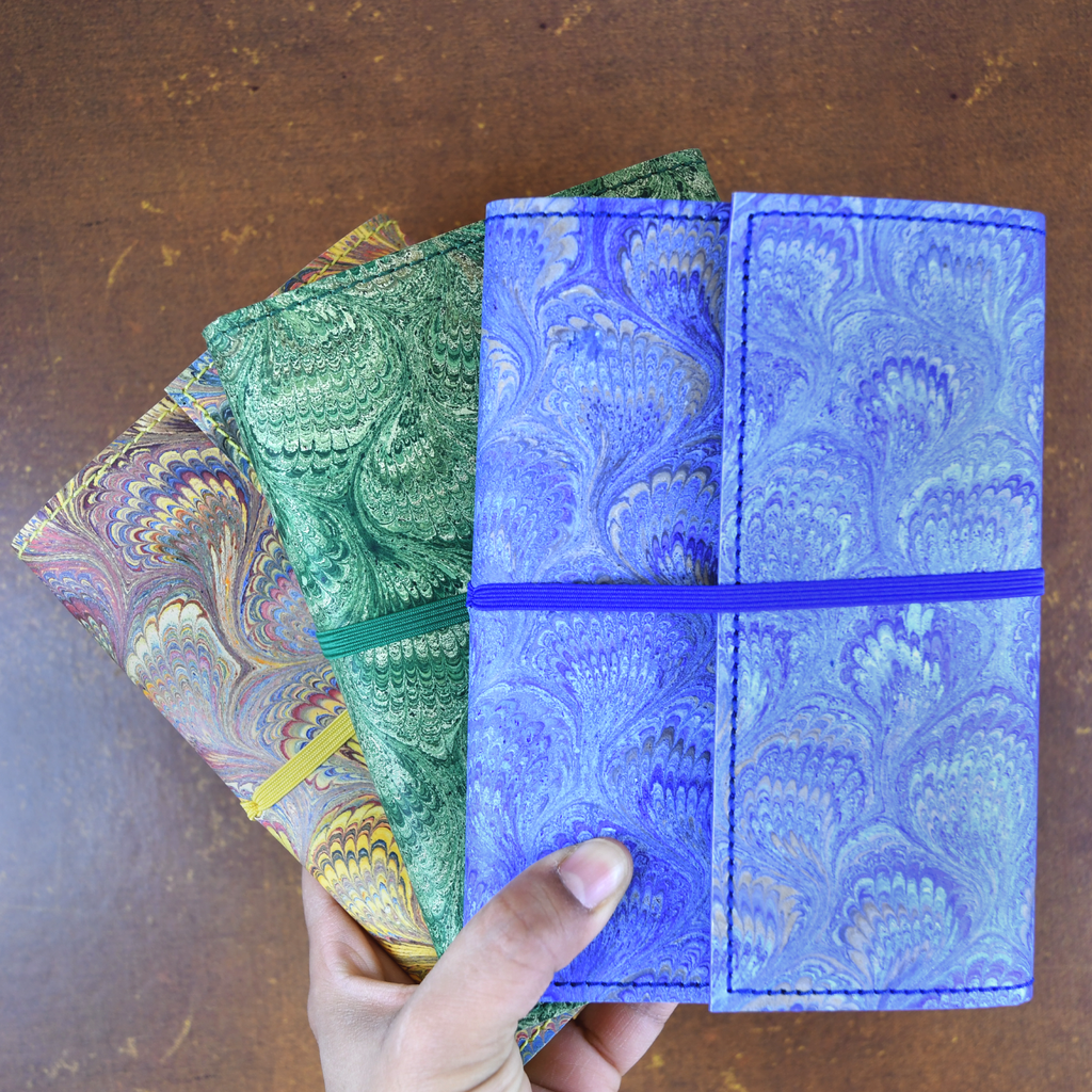 NYPL Peacock Leather Journals