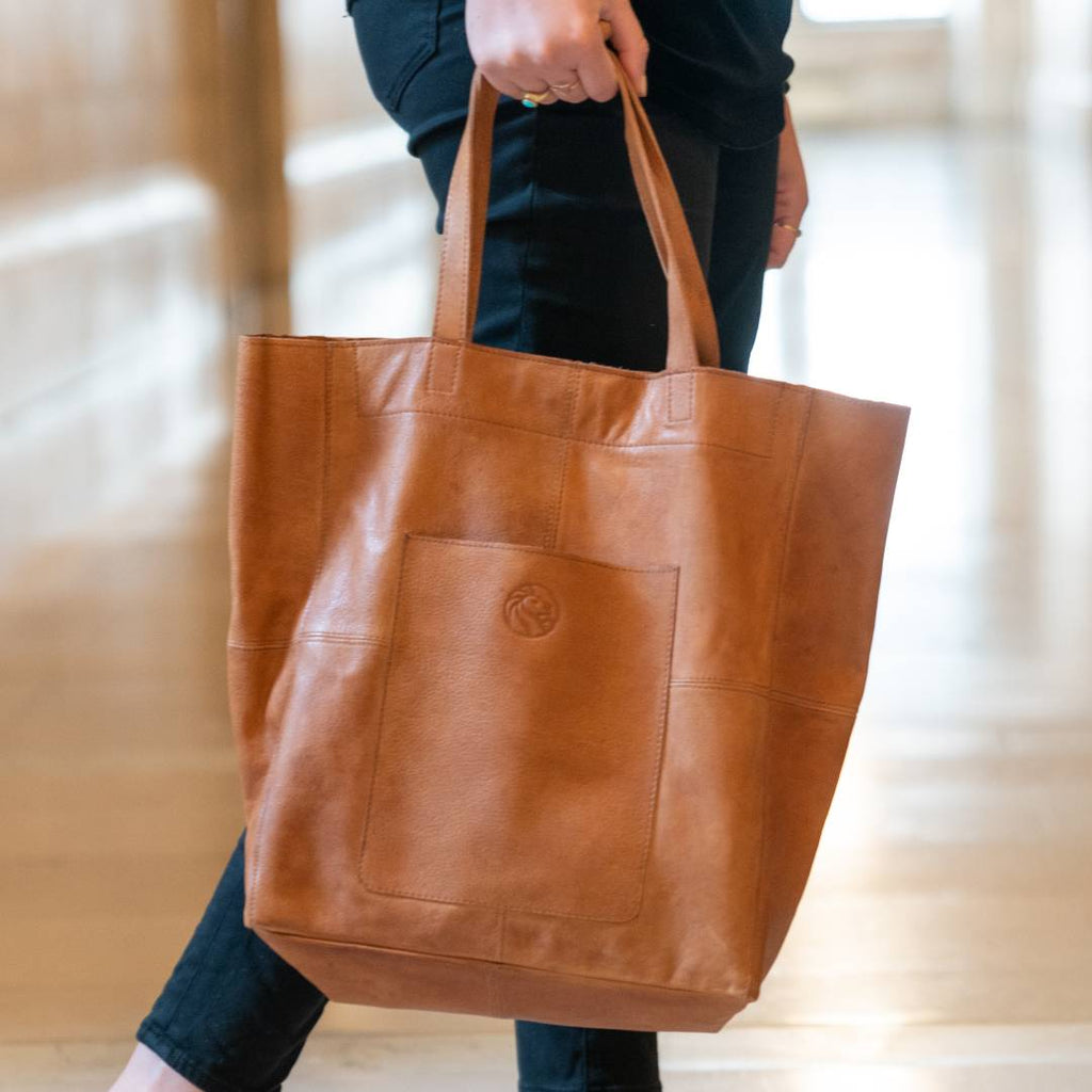 NYPL Leather Tote Bag