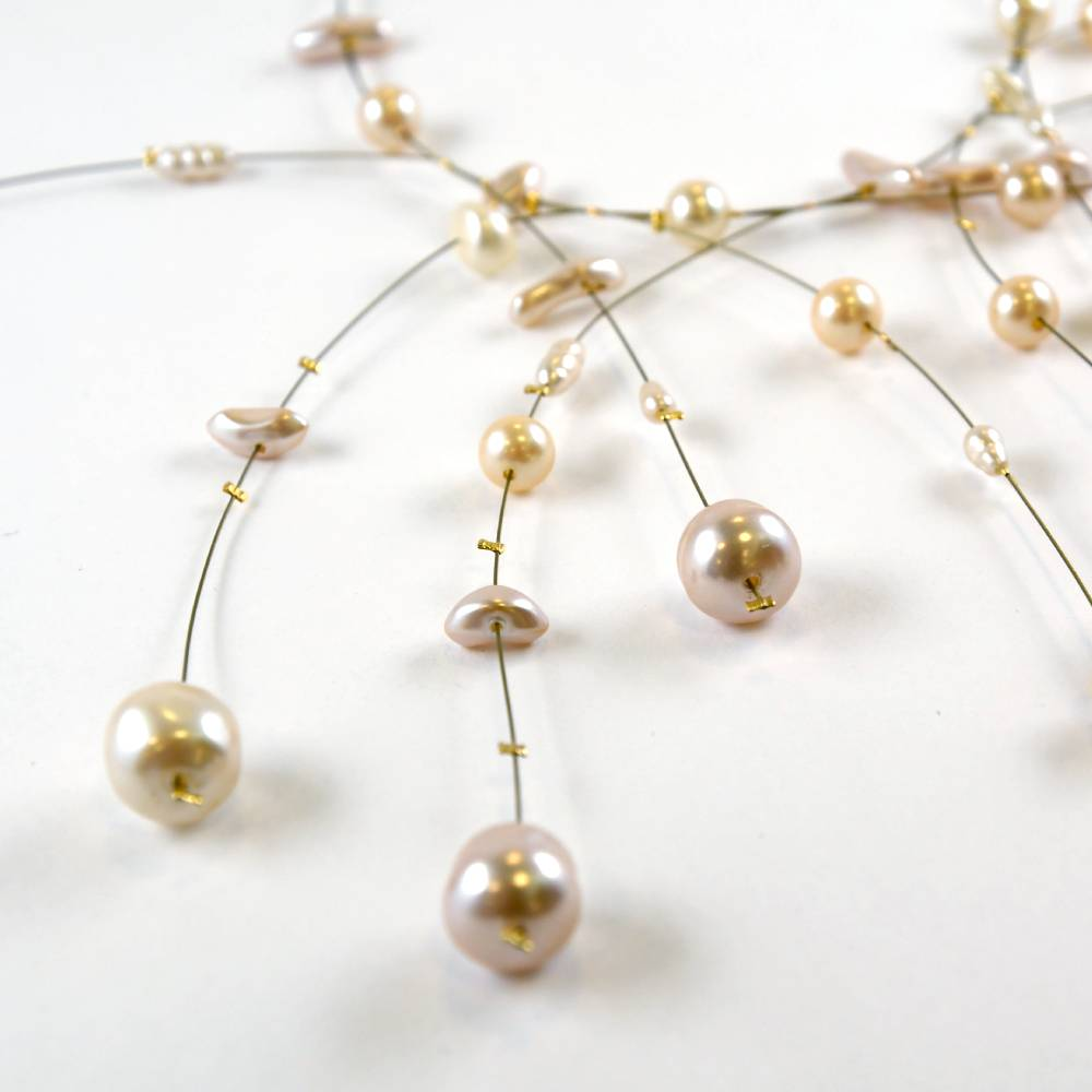 Pearl and Gold Choker Necklace