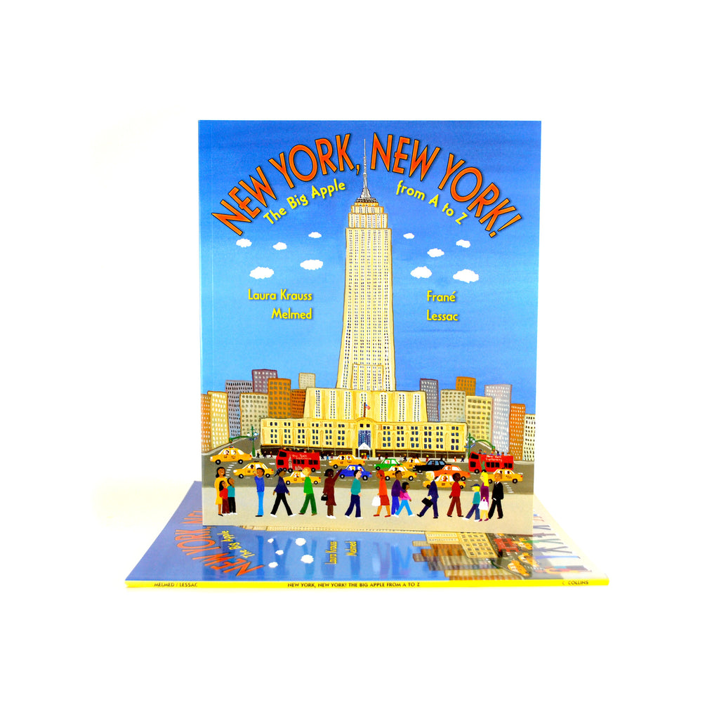 Cover features cartoon illustration of people walking around the Empire State Building.