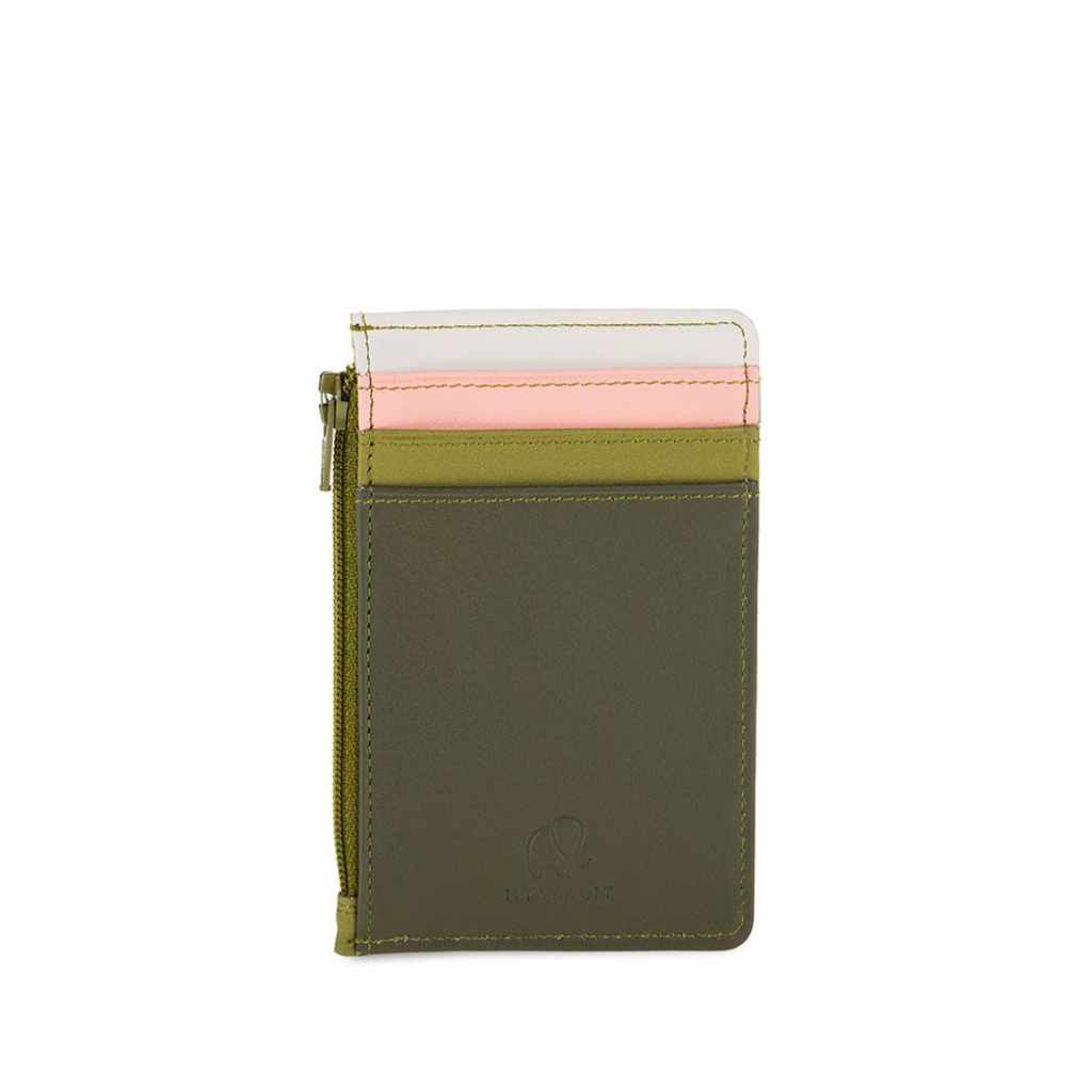Credit Card Holder with Zipper: Olive Mywalit