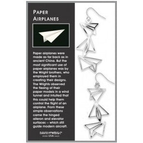 Packaging includes an explanation of the earrings.