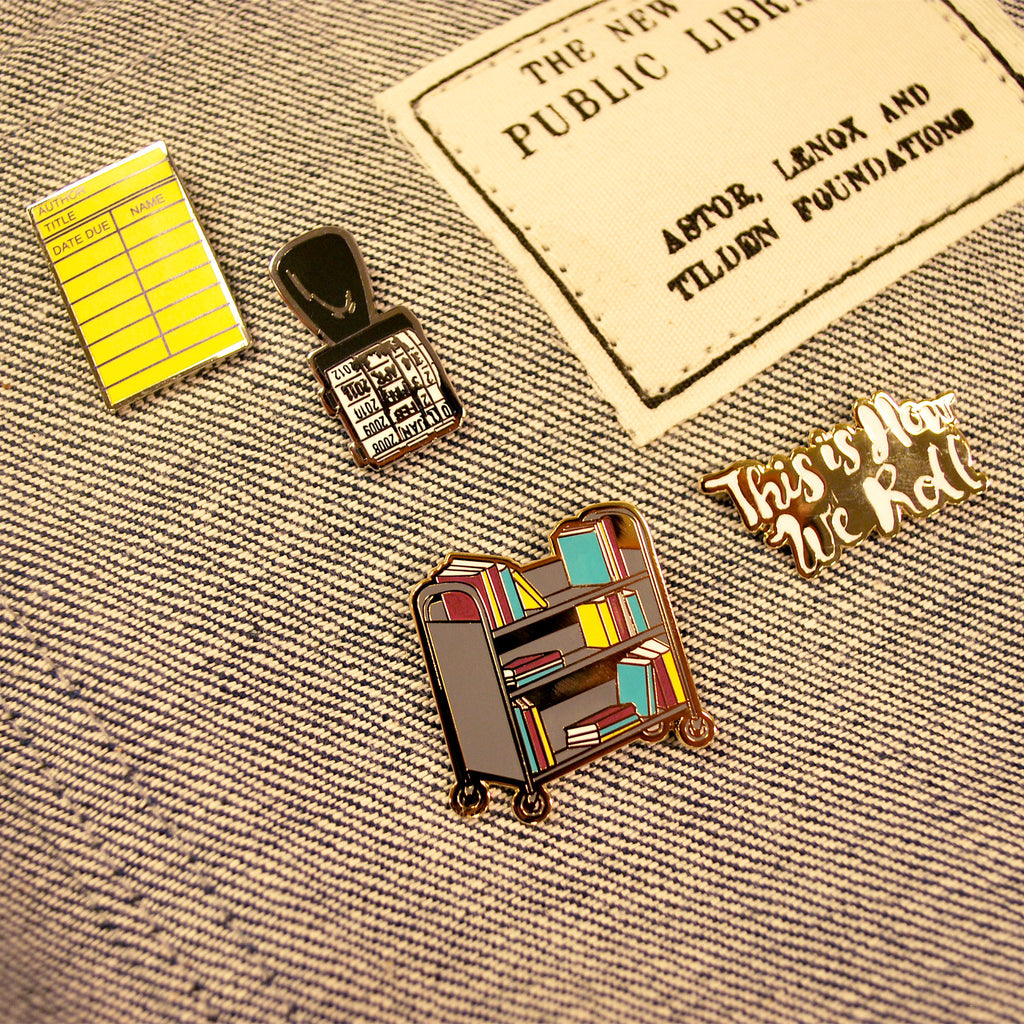 Book Cart Pin Set - The New York Public Library Shop