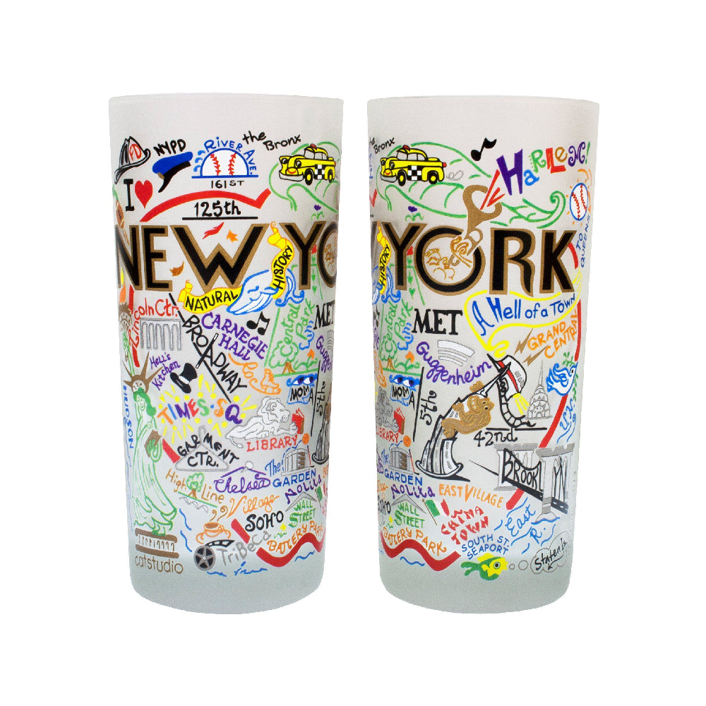 New York City Drinking Glasses