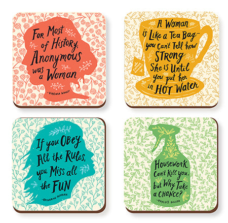 Feisty Feminine Coasters - Set of Four - The New York Public Library Shop