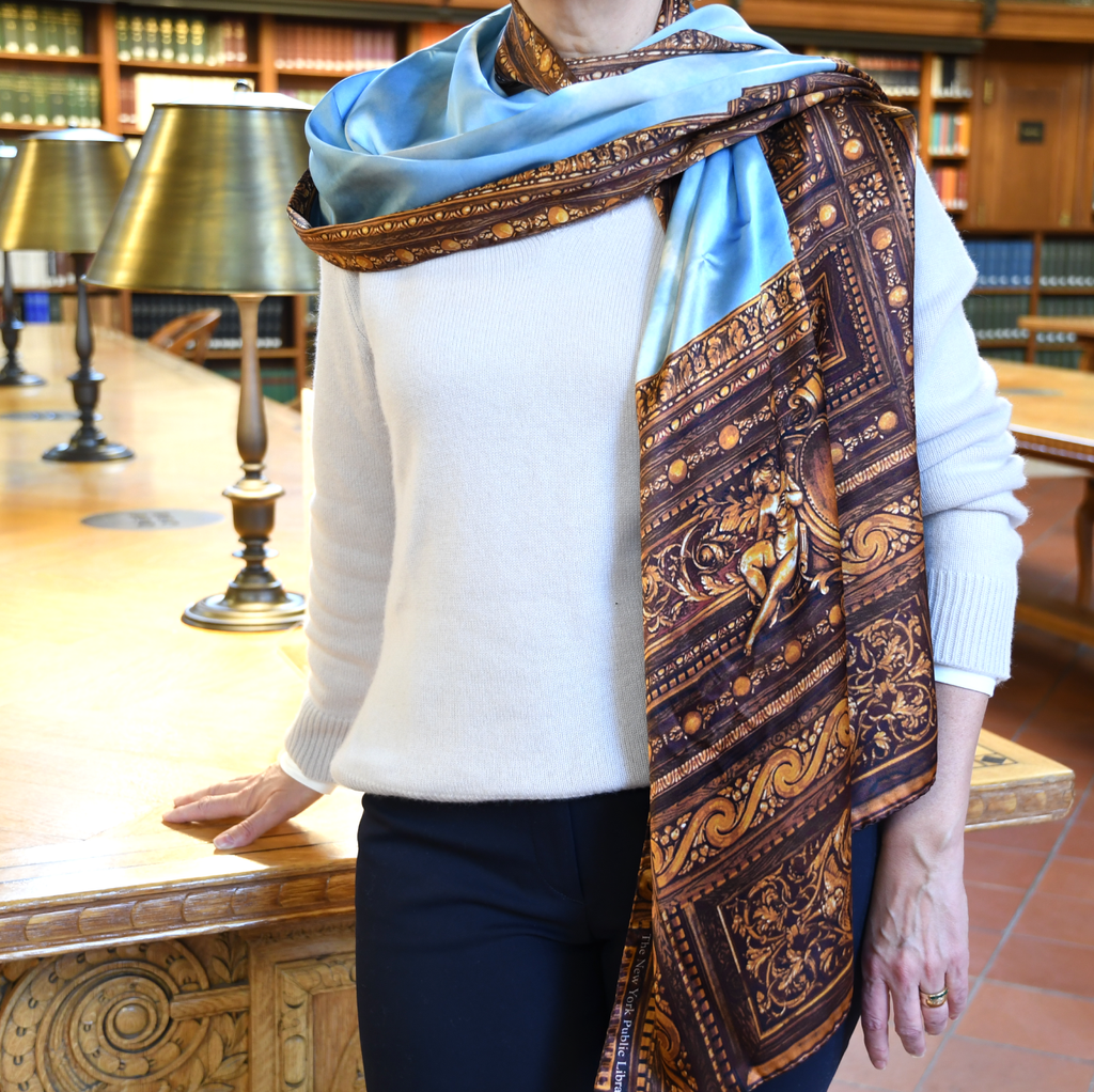 Rose Main Reading Room Silk Scarf