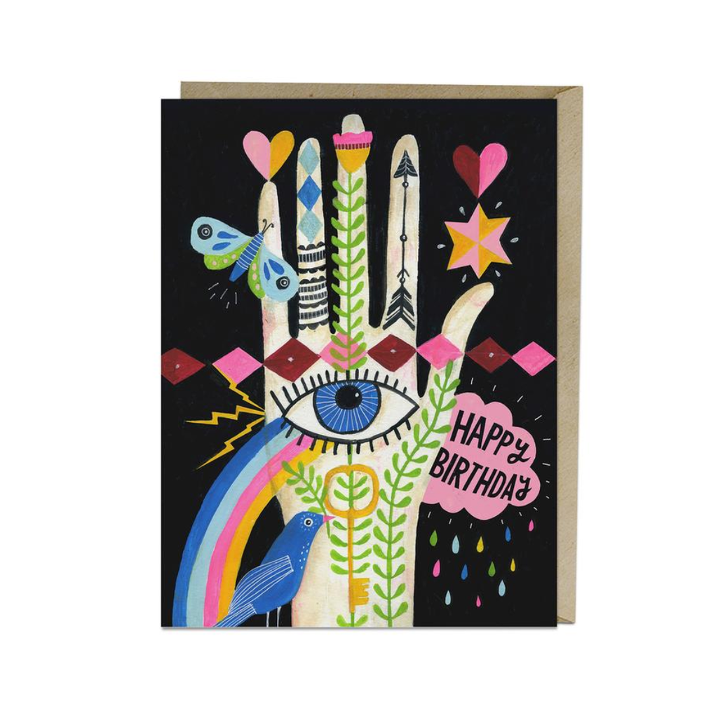 Rainbow Hand Birthday Notecard