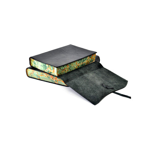 Marbled Edged Italian Leather Journals