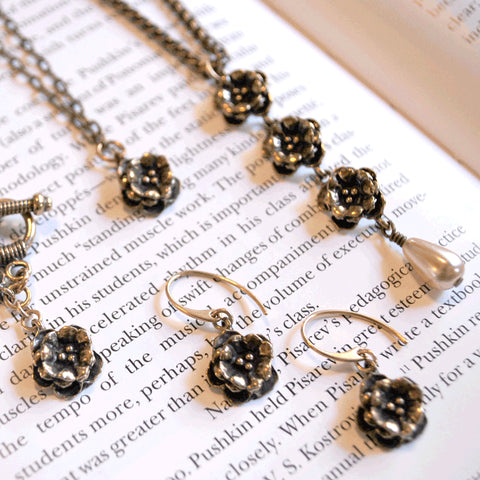 NYPL Triple Rosette Necklace - The New York Public Library Shop