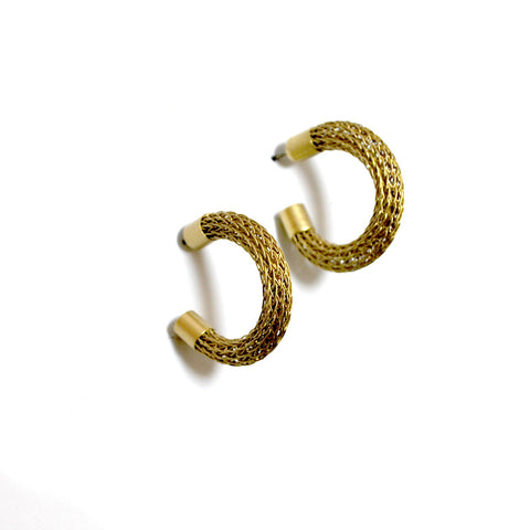Brass Metal Hoop Earrings