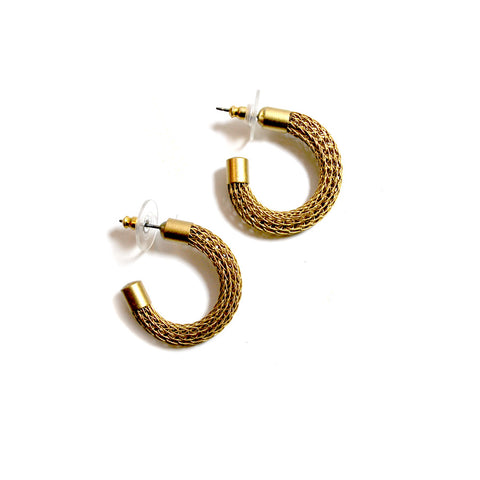 Brass Metal Hoop Earrings - The New York Public Library Shop