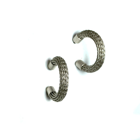 Silver Metal Hoop Earrings