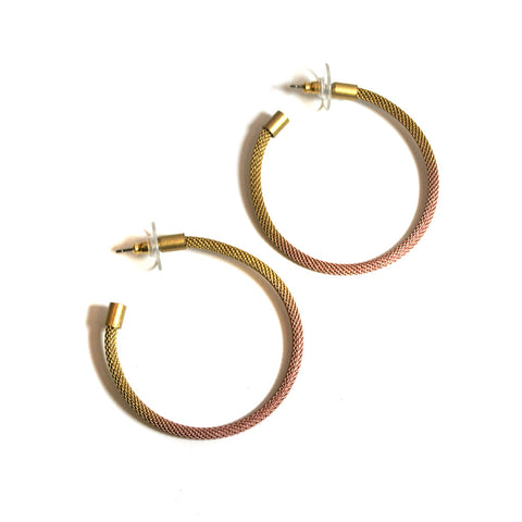 Thin Mesh Hoop Earrings