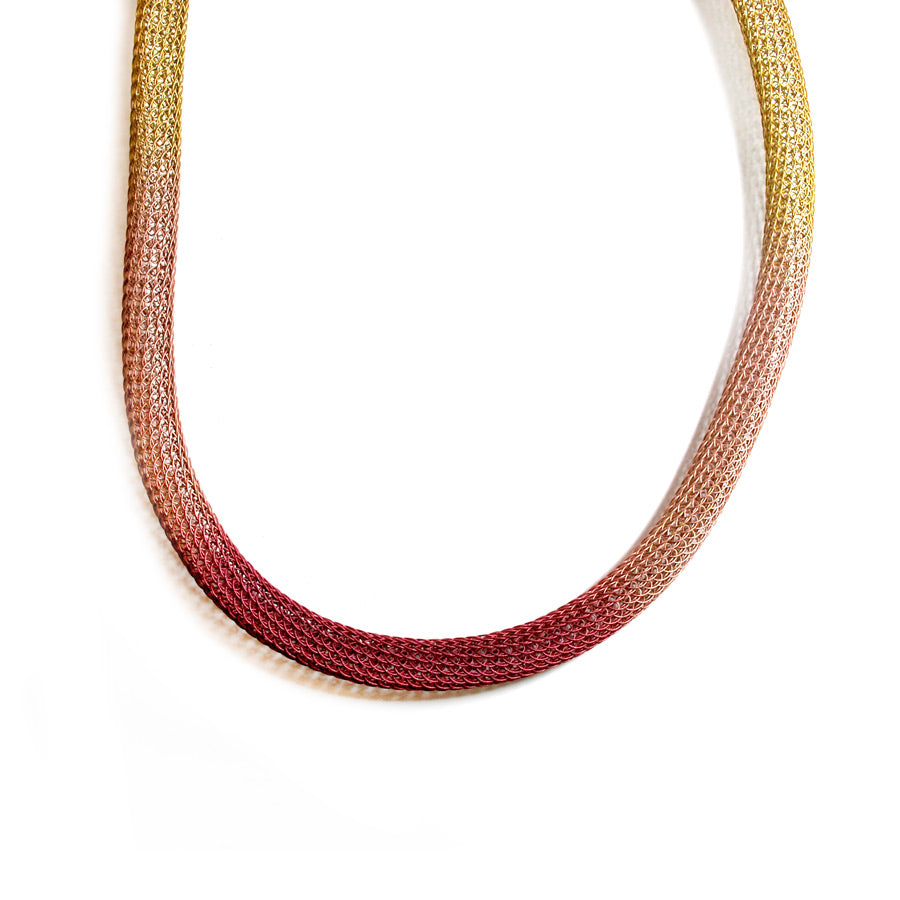 Tinted Wire Knit Tube Necklace - The New York Public Library Shop