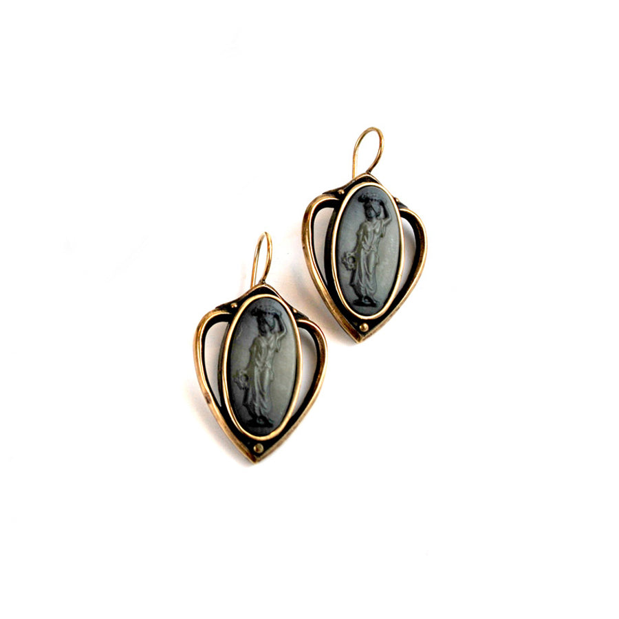 Slate Intaglio Earrings - The New York Public Library Shop