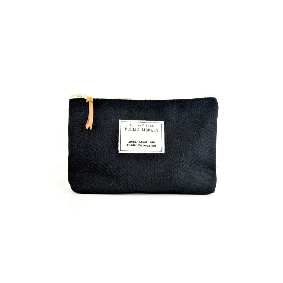Black NYPL Stamp Pouch - The New York Public Library Shop