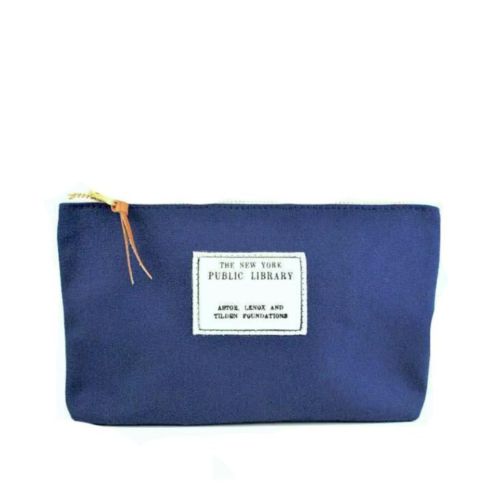Navy Vintage NYPL Stamp Pouch - The New York Public Library Shop
