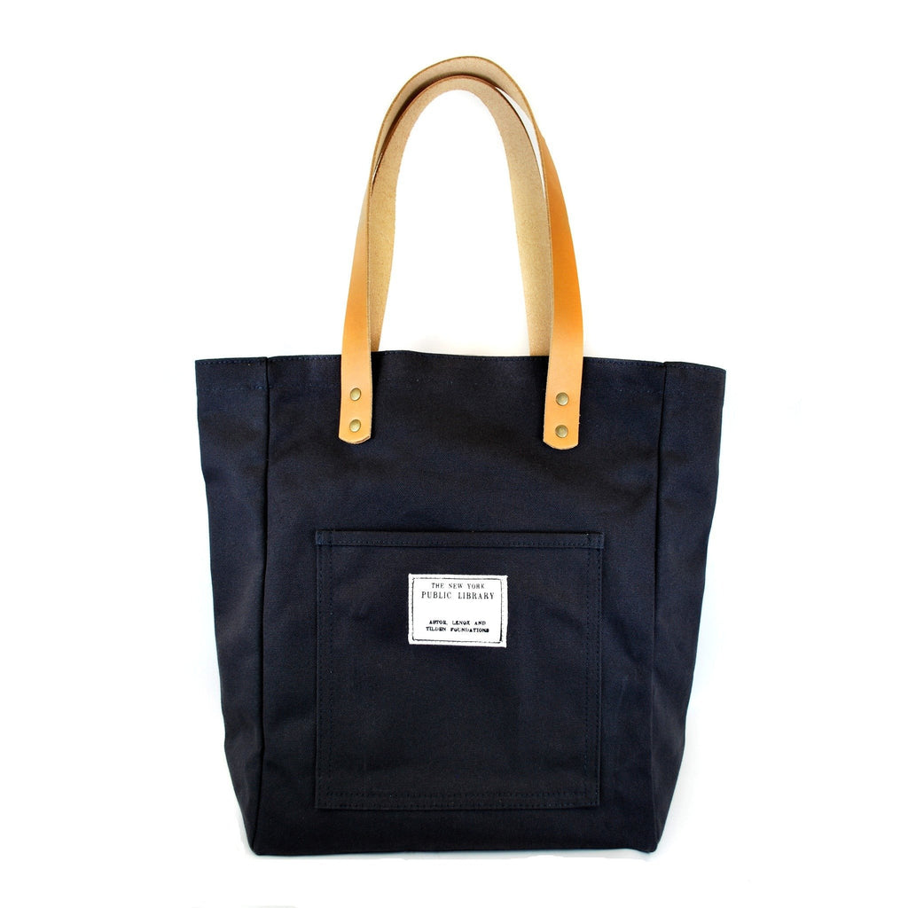 Black Vintage NYPL Stamp Tote Bag - The New York Public Library Shop