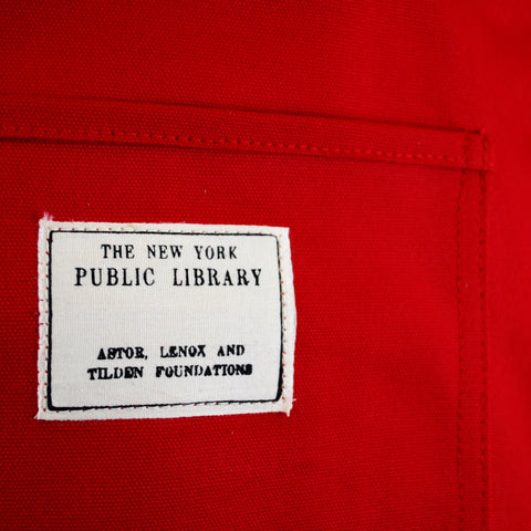 Red Vintage NYPL Stamp Tote Bag - The New York Public Library Shop