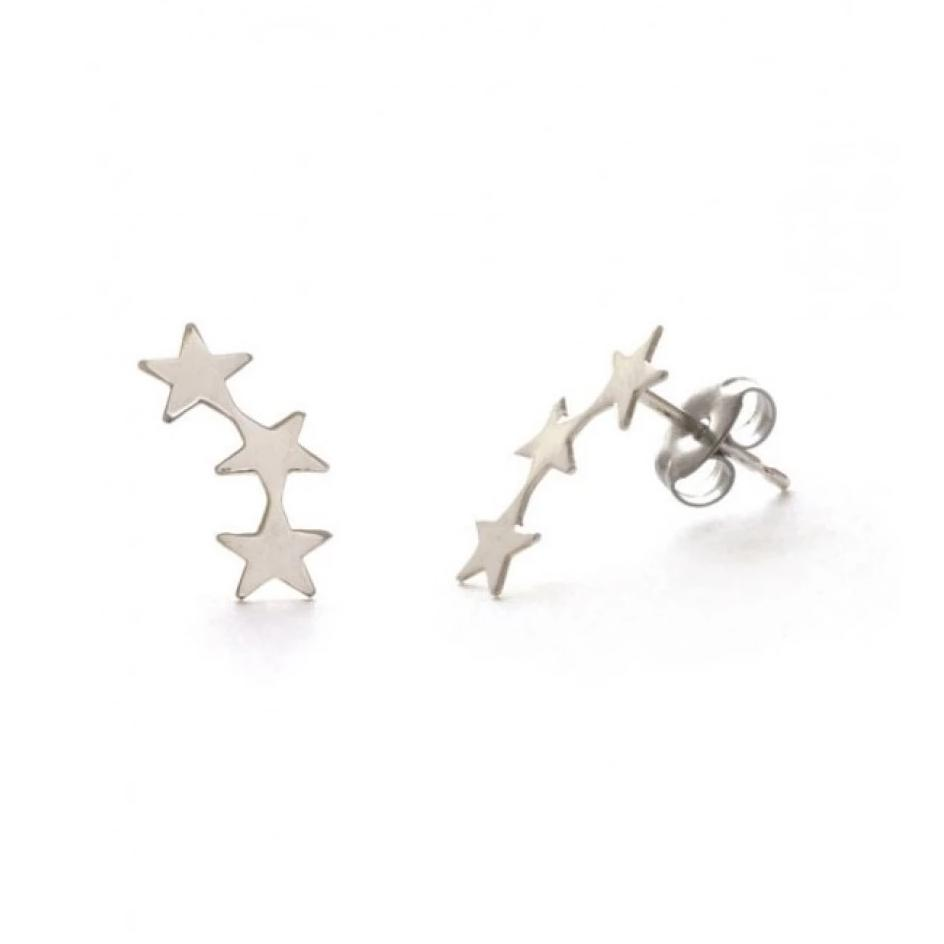 Silver Star Cluster Earrings - The New York Public Library Shop