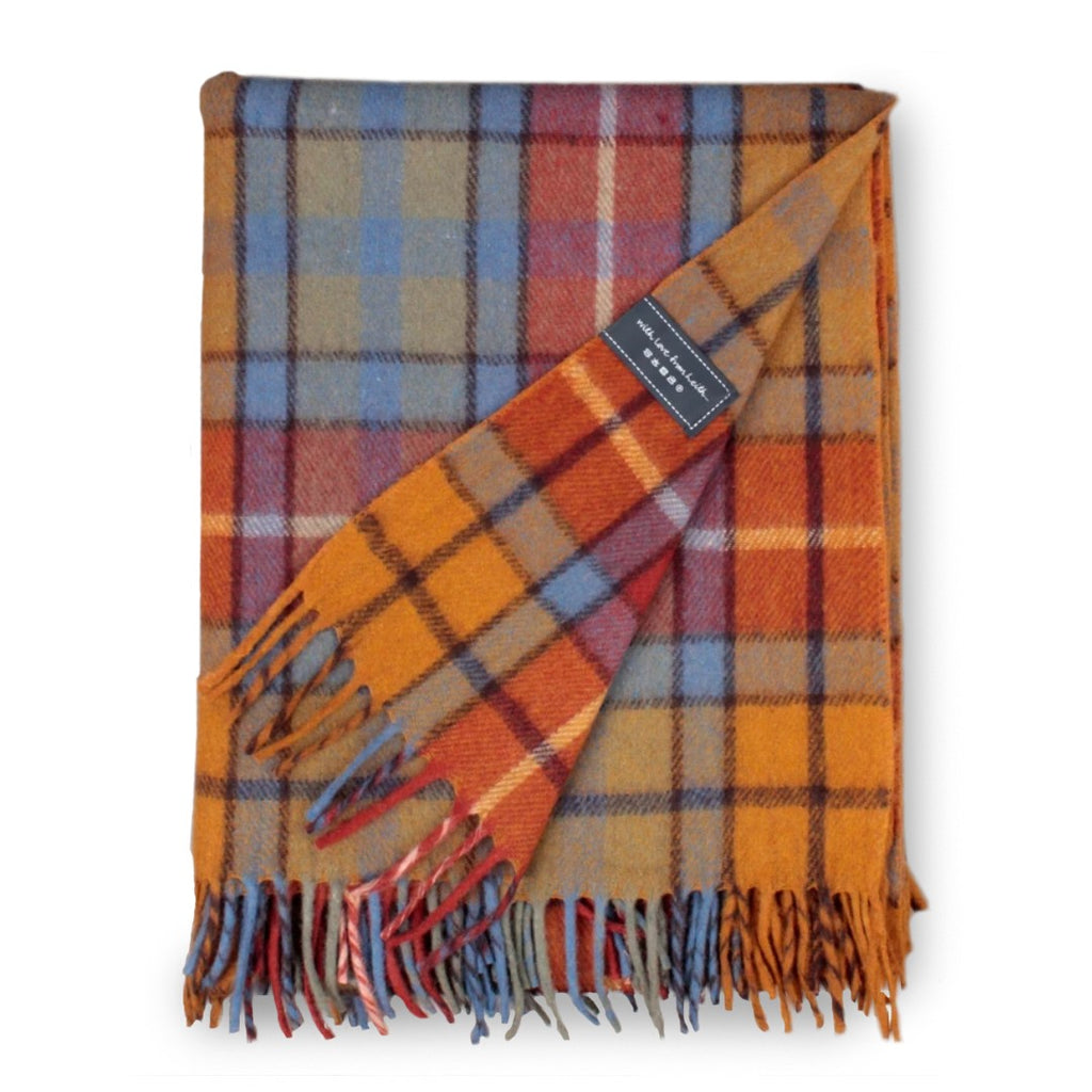 Recycled Wool Blanket in Buchanan Antique Tartan